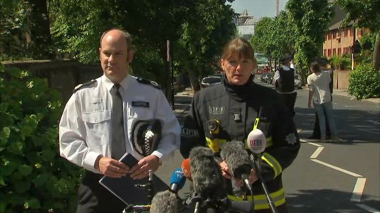 Emergency services press conference.