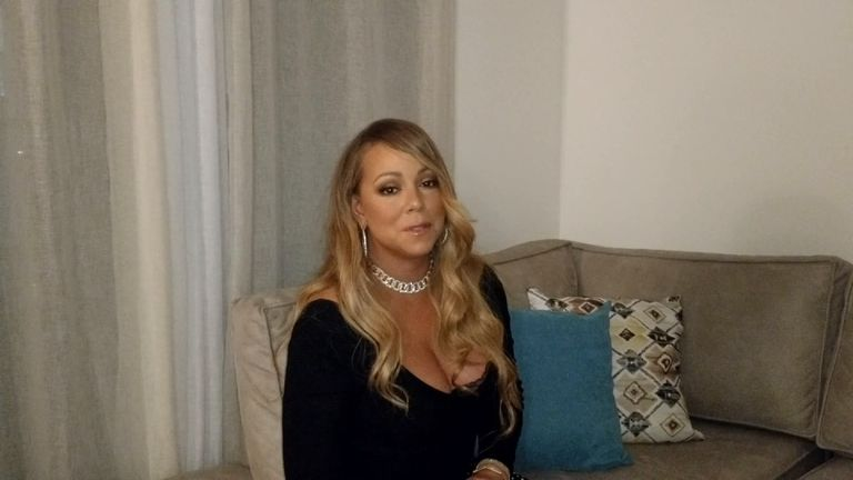 Mariah Carey said she was happy to have met Martyn Hett who was 'shining down on us from heaven'