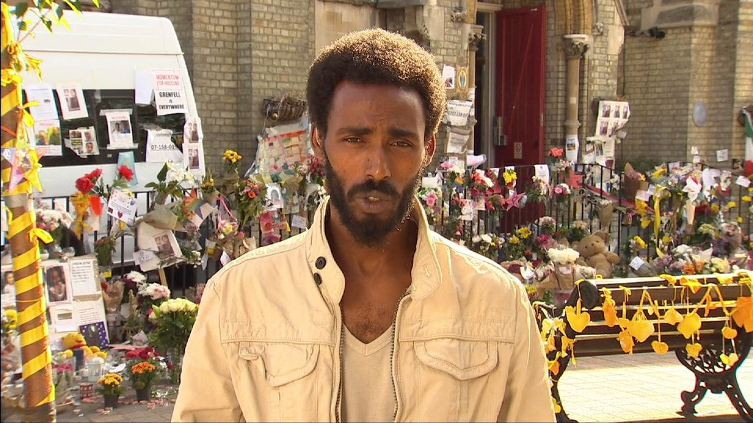 Grenfell fire survivor Mahad Egal says accommodation he has been offered is not suitable