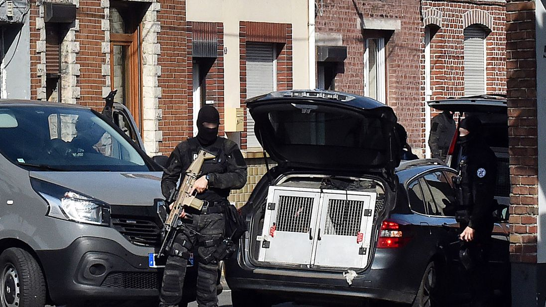 The anti-terror investigation is a Franco-Belgian operation