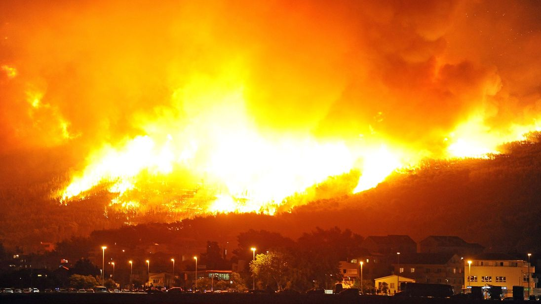 Croatia fire july 2017
