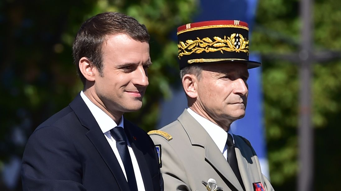 President Macron and Pierre de Villiers clashed over the French military's budget