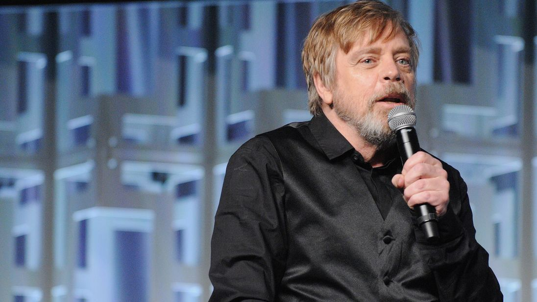 Mark Hamill attends the Star Wars: The Last Jedi panel during the 2017 Star Wars Celebration at Orange County Convention Center on April 14, 2017 in Orlando, Florida