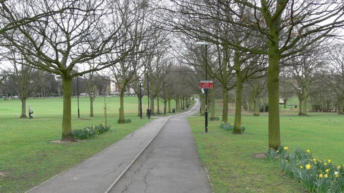 Part of Victoria Park, Leicester, where the violent attack took place. Pic. Mat Fascione