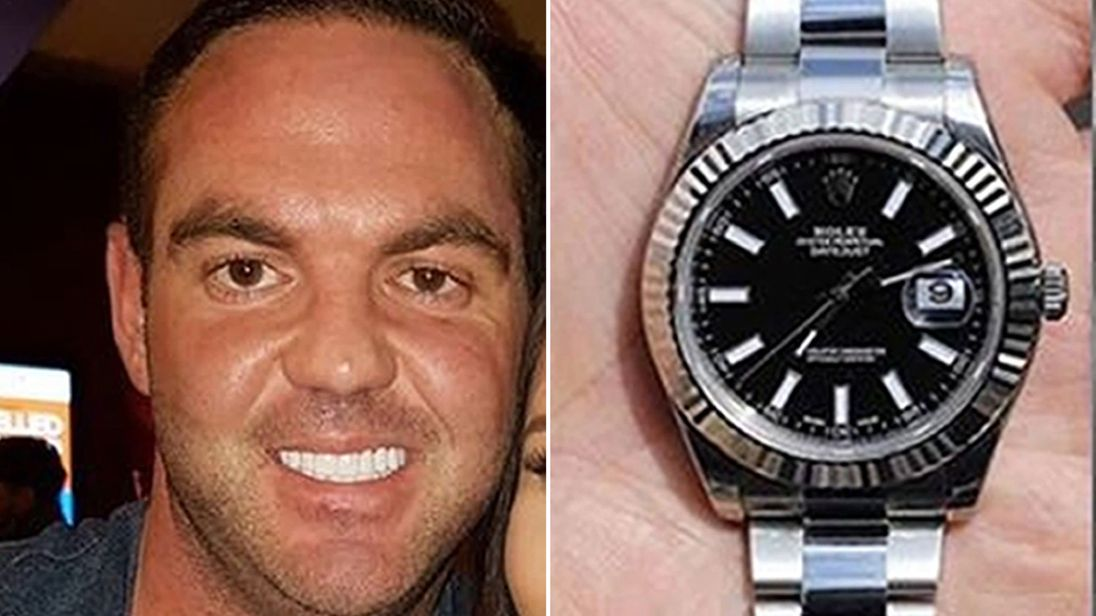 Danny Pearce (L) was allegedly murdered for his Rolex watch