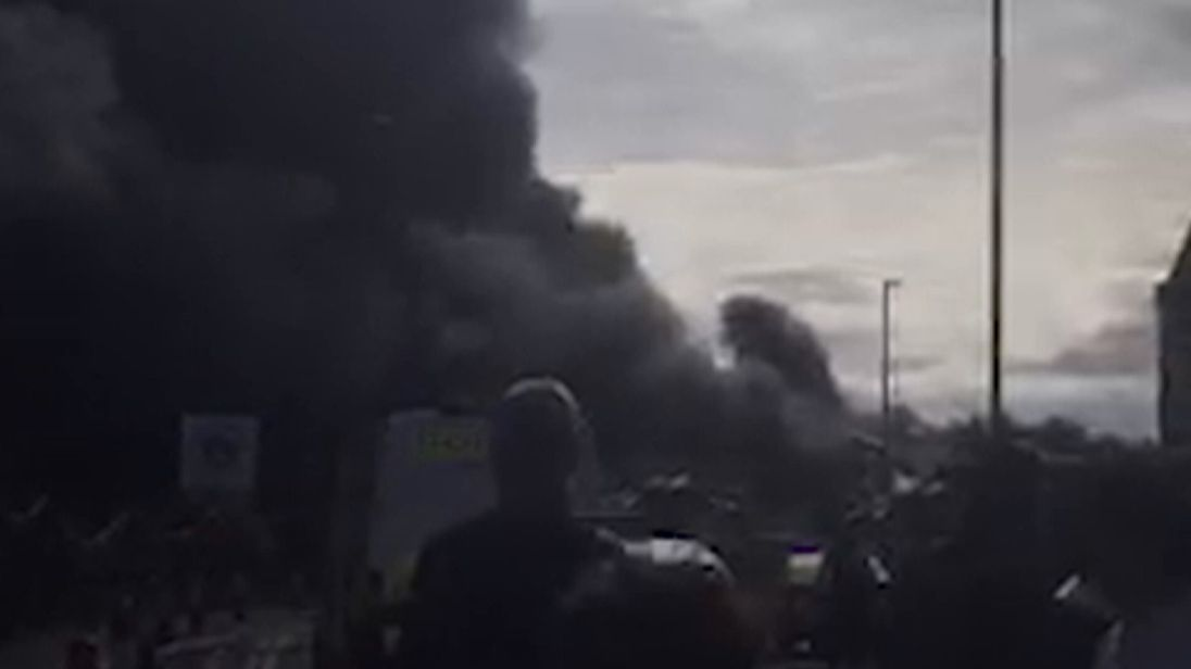 A fire broke out at a paintballing centre in St Helens