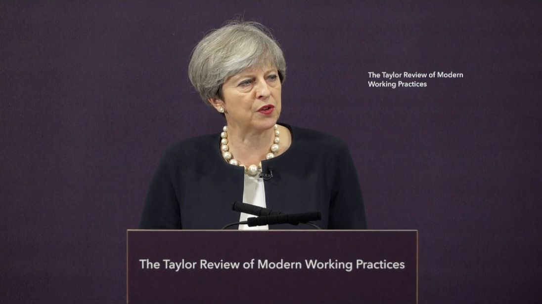 Theresa May promised working practices which are fair to all