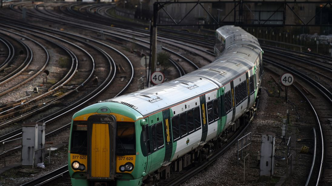File photo dated 16/02/17 of a Southern rail train at Victoria Station in London.