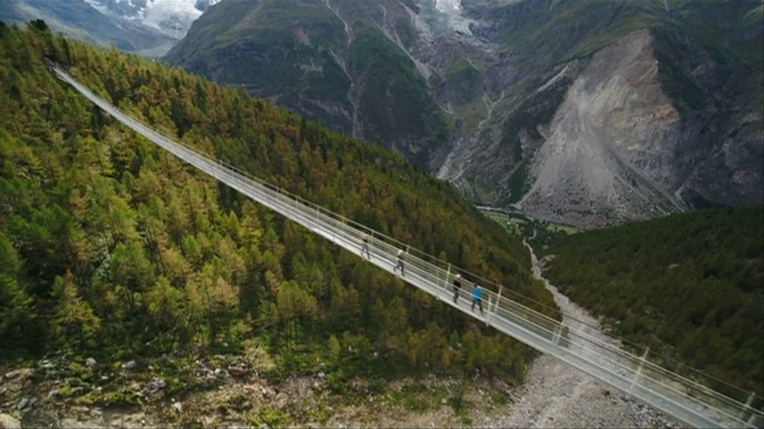 Charles Kuonen Suspension Bridge in Switzerland