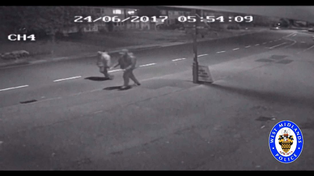 CCTV of two men wanted for questioning over the stabbing of model James Brindley