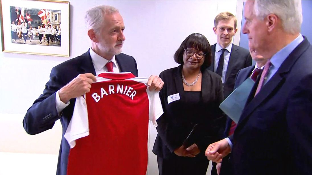 Jeremy Corbyn was in Brussels to talk with EU's Chief Brexit negotiator Michel Barnier and to our political editor Faisal Islam.