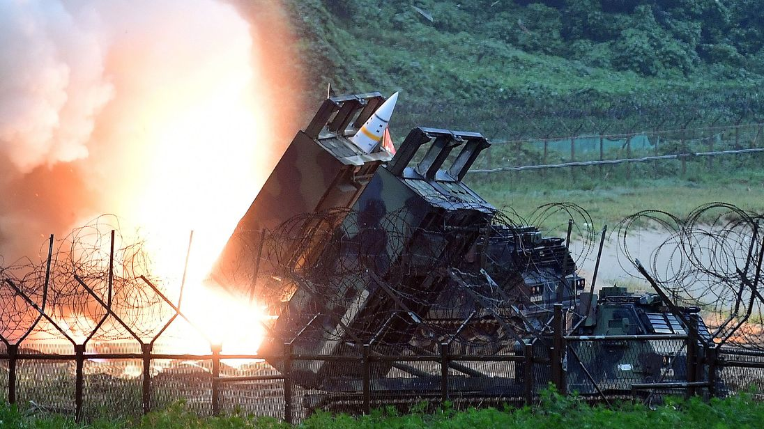 The show of force follows the latest missile launch by Pyongyang