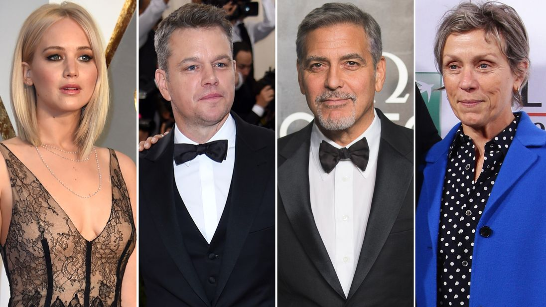Jennifer Lawrence, Matt Damon, George Clooney and Frances McDormand