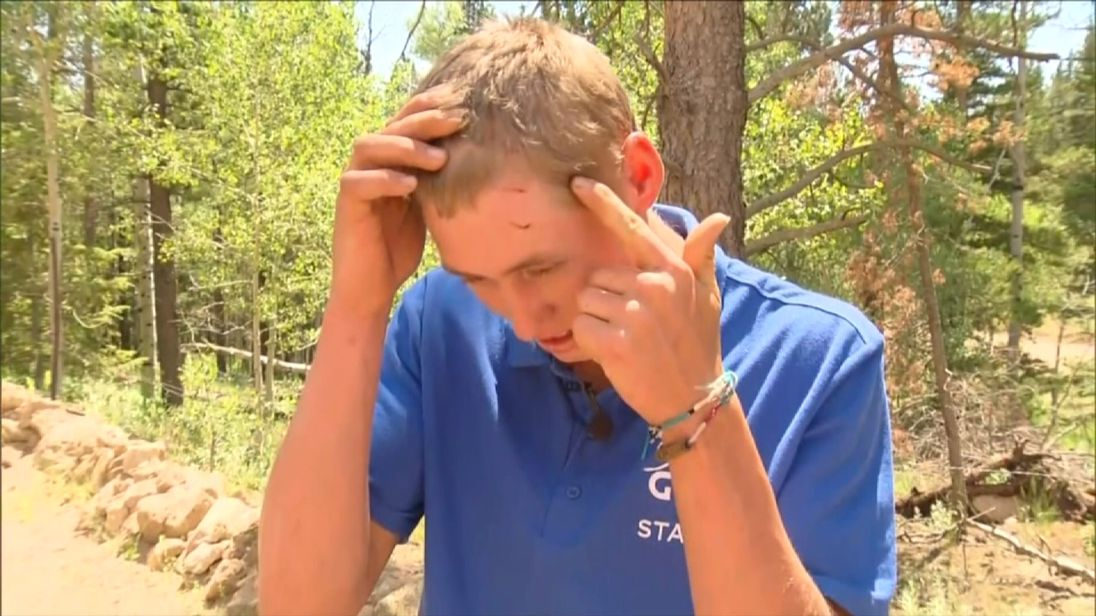 Dylan was attacked by a bear in Colorado