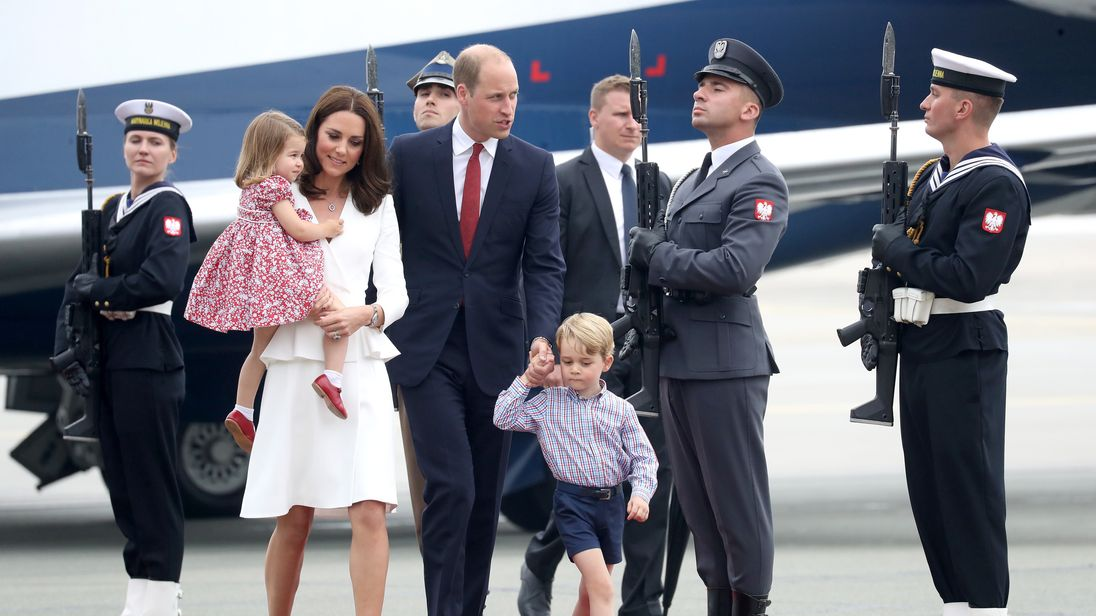 The family arrive in Warsaw
