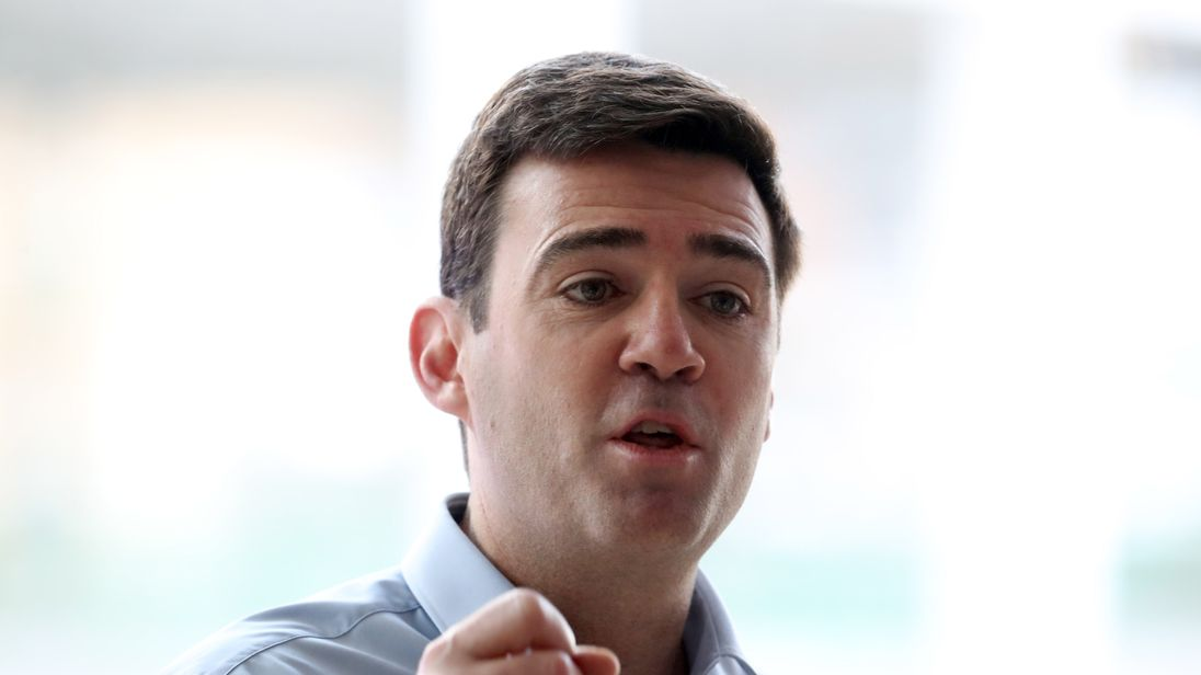 Labour's Andy Burnham, mayor of Greater Manchester