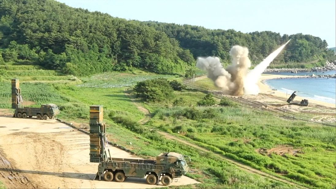 US fires missile into South Korean waters