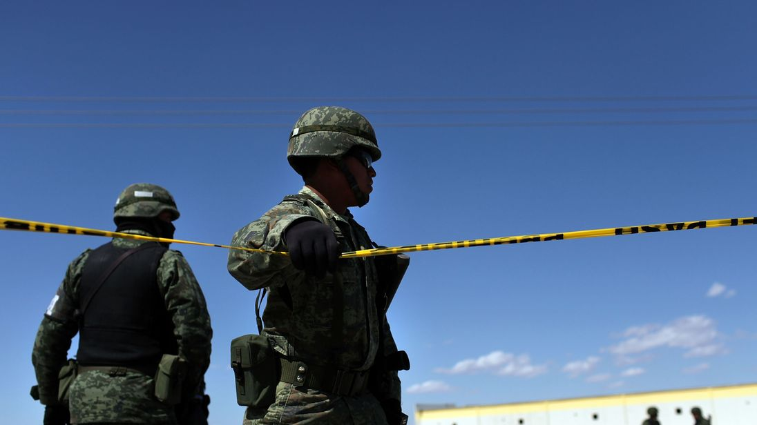 Mexican military police have been dealing with an upsurge in gang violence. File pic