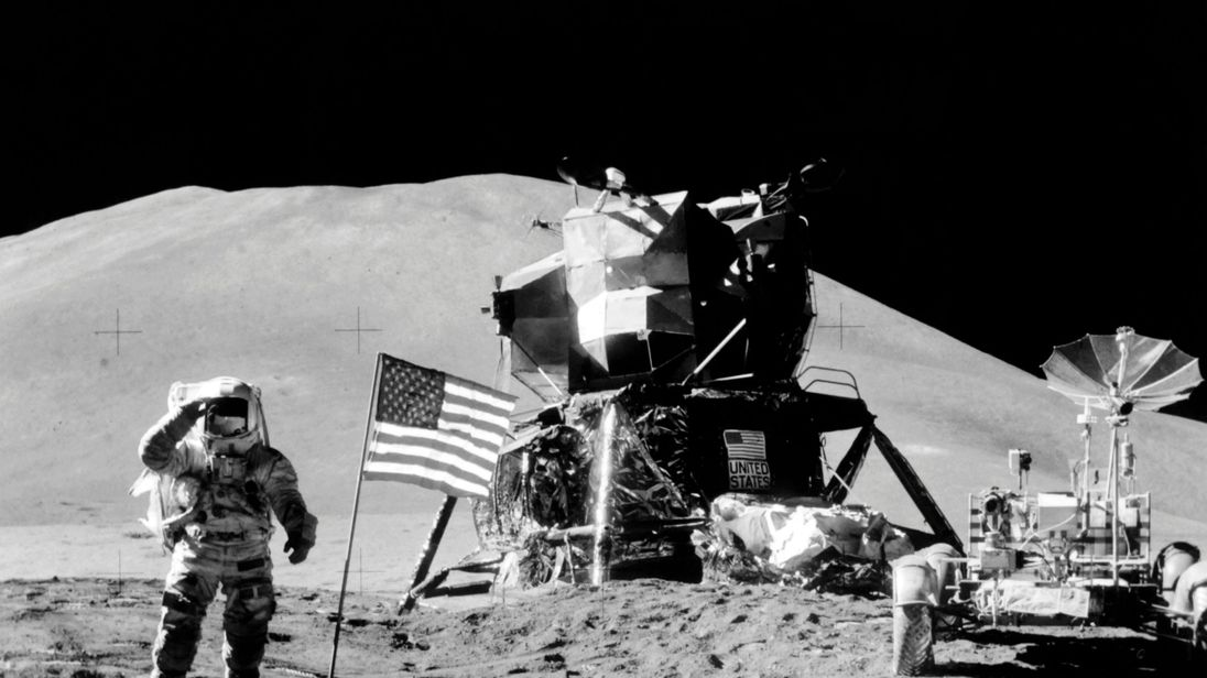 Evidence of water was found near the Apollo 15 landing site