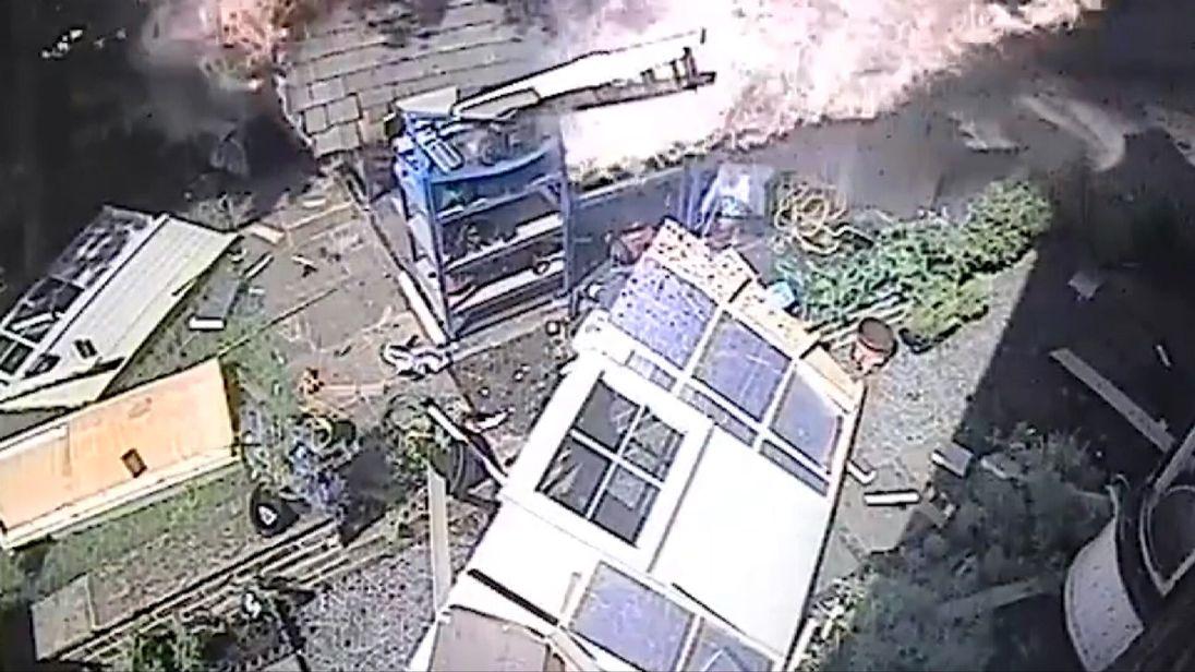 Shed explodes after petrol vapour ignites