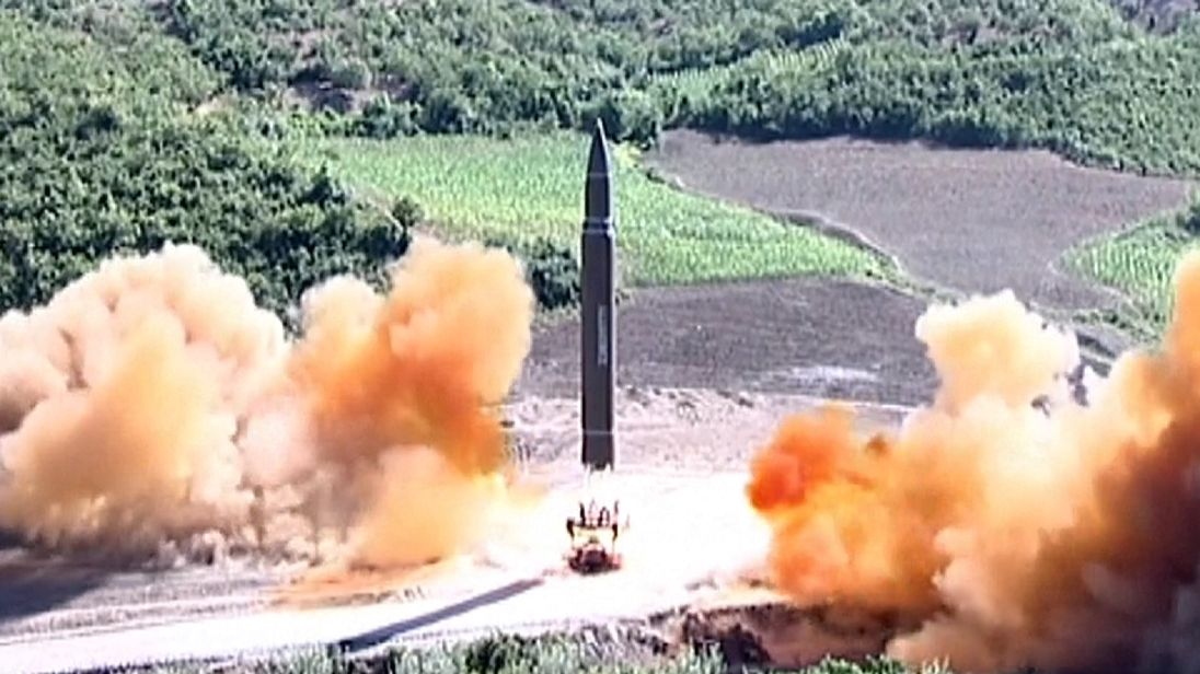 North Korea test-fired on intercontinental missile earlier in July