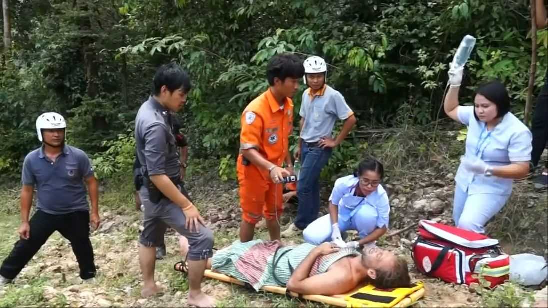 British actor Paul Nicholls rescued in Thailand after being discovered under a waterfall