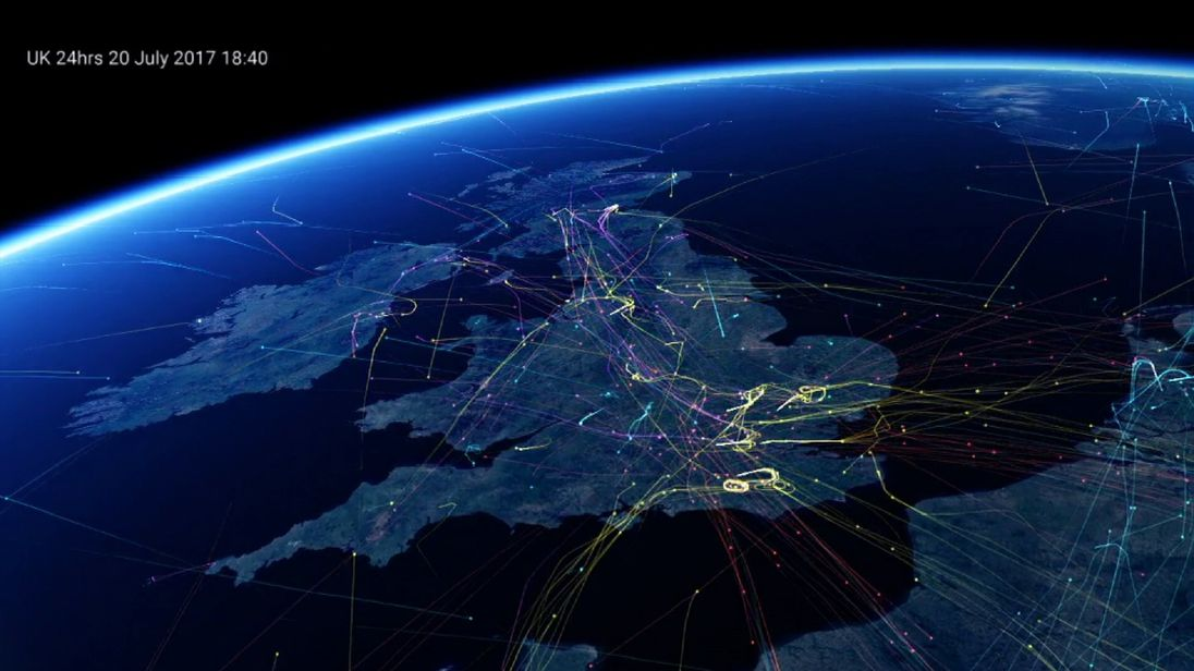 The UK is handling a record 8,800 flights on Friday. Pic: NATS