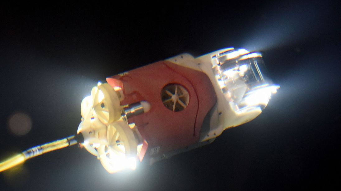 The remotely operated underwater vehicle (ROV)