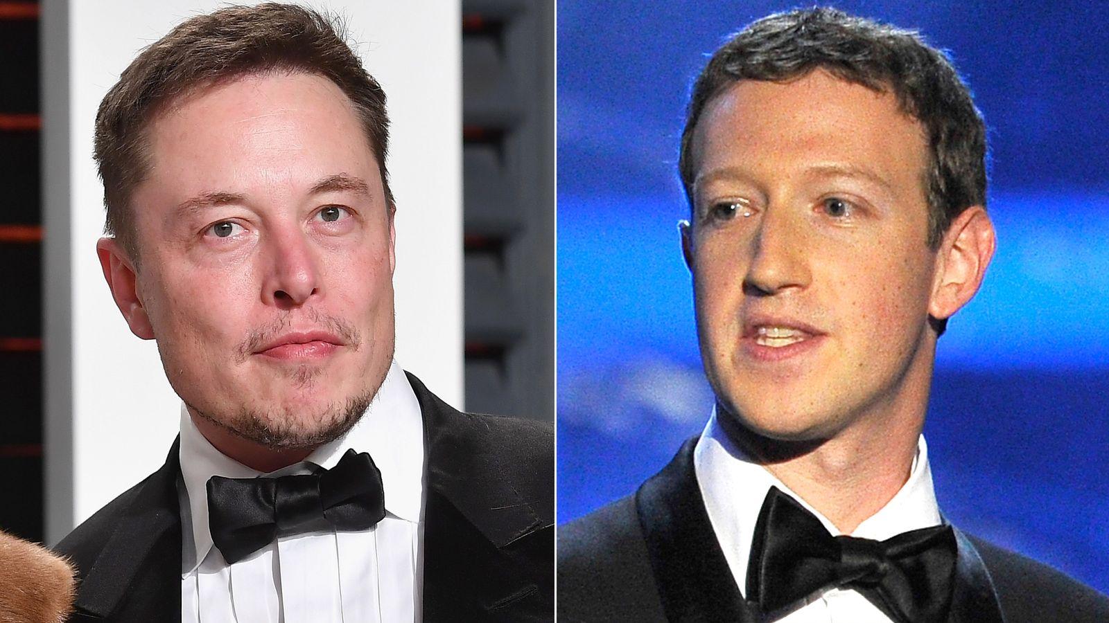 أشهر الشخصيات التقنية elon musk and mark zuckerberg