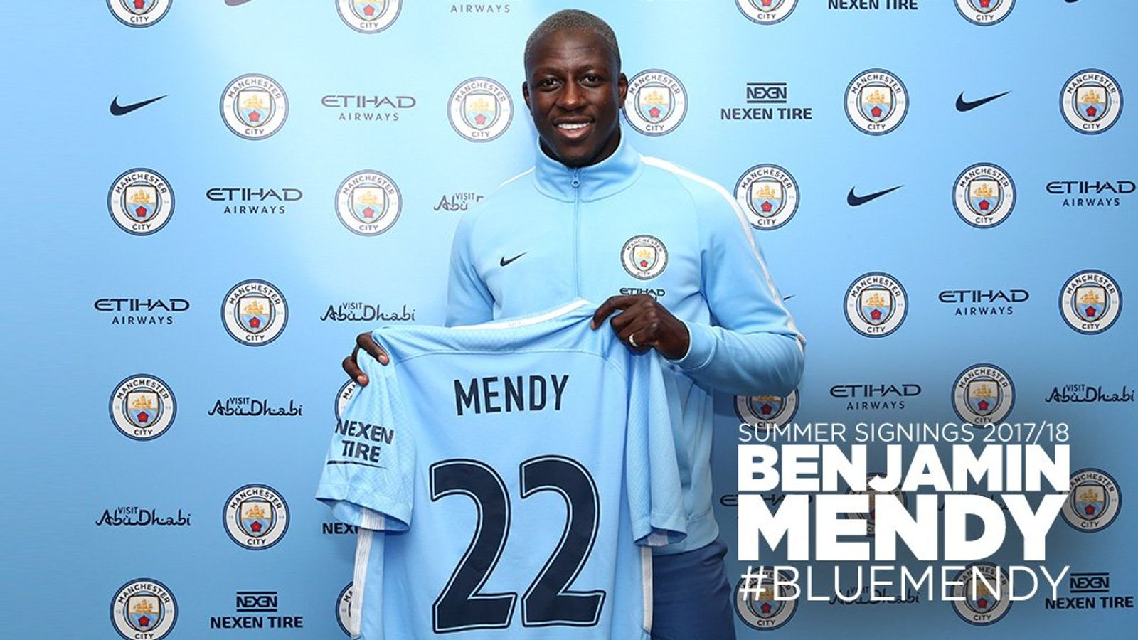 Manchester City announce £49 2m signing of Benjamin Mendy