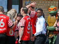 Jermain Defoe, who built a close bond with Bradley, flew in from Spain