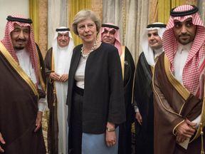 Theresa May meets King Salman bin Abdulaziz al Saud of Saudi Arabia in April