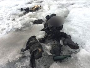 The bodies of the Swiss couple were found frozen inside the glacier. Pic: Storyful