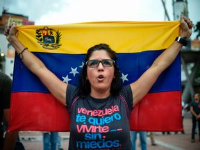 A protest in Caracas ahead of a public vote on President Maduro's plan to rewrite the constitution