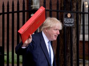 Foreign Secretary Boris Johnson arriving for a Cabinet meeting in Downing Street, London.