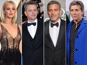Jennifer Lawrence, Matt Damon, George Clooney and Frances McDormand