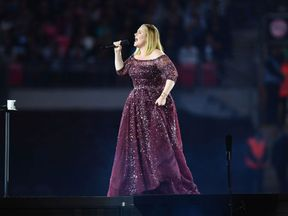 Adele performs at Wembley Stadium on June 28, 2017