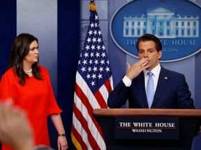Anthony Scaramucci blows a kiss to reporters