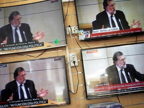 Mr Rajoy's testimony was given wall-to-wall coverage on Spanish television
