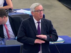 Jean-Claude Juncker in the EU Parliament