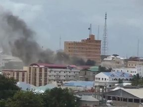 Smoke seen billowing over Mogadishu