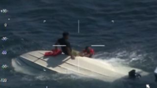 Five people were rescued from the sea off Topsail Island, North Carolina