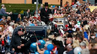 The funeral cortege for Bradley Lowery in Blackhall
