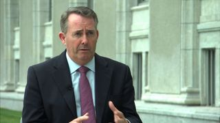 Liam Fox speaks to Sky's Faisal Islam