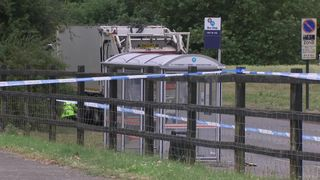 Schoolgirl dead after minibus collides with bin lorry near Birmingham