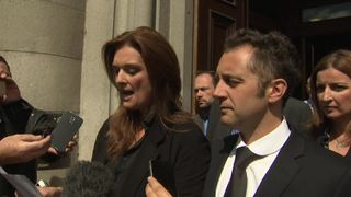 Fiona and Germain Drouet outside Aberdeen Sherrif Court