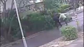 Robber drags OAP to floor