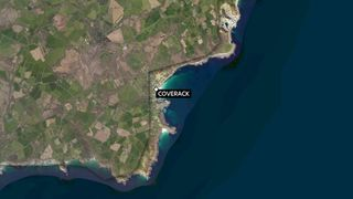 Floods hit the Coverack area of Cornwall