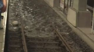 Underground tube lines are flooded in Turkey