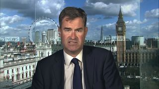 David Gauke Work and pensions secretary in the Millbamk studio.